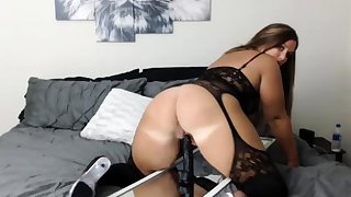 Solo blonde newborn toying her vulva with the addition of loves it