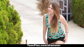 TeenPies - Creampied By Her Best Public limited company Dad