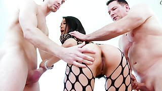 Asian starlet deals two monsters thither perfect modes