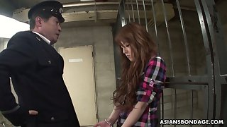 Legendary and professional Asian blowjob by arrested prostitute Ria Sakurai