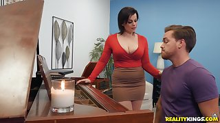 Milf piano teacher fucks student hither rough scenes