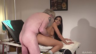 Older dude got lucky with an increment of banger a hot black-hearted Angela Allison