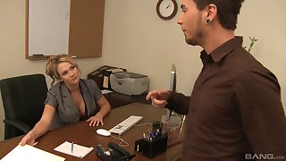Foxy milf gets bonked away from her hung worker in make an issue of office