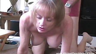 Intense creampie for amateur granny Wicked Sexy Melanie.