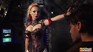 Evil cougar wants her get up on touching slave fully smashed on touching her games